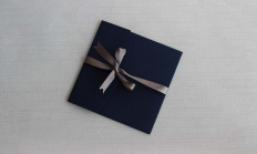 Casual Swirls Navy and Silver Pocketfolds: 10445 - WeddingWise Lookbook - wedding photo inspiration
