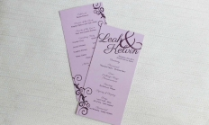 Ampersand: Purple Pocketfold: 10055 - WeddingWise Lookbook - wedding photo inspiration