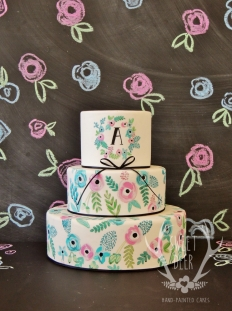PAINTED CAKES: 10217 - WeddingWise Lookbook - wedding photo inspiration