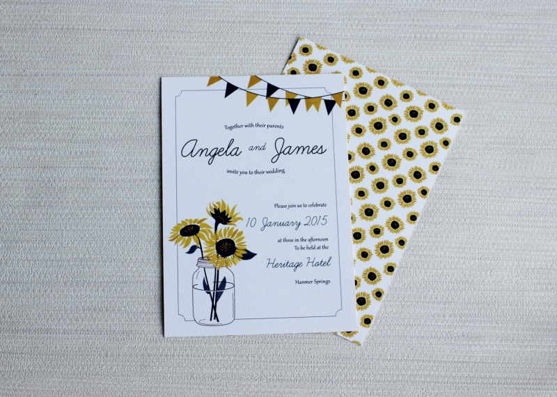 Sunflower Wedding Invitation and Save the Date: 10462 - WeddingWise Lookbook - wedding photo inspiration
