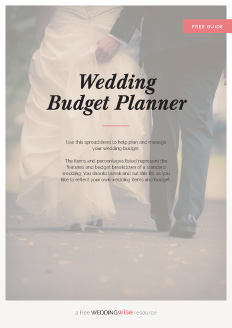 Use this spreadsheet to help plan and manage your wedding budget.  The items and percentages listed represent the features and budget breakdown of a standard wedding. You should tweak and cut this list as you like to reflect your own wedding items and budget.